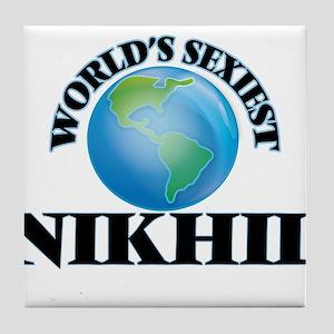 World's Sexiest Nikhil Tile Coaster