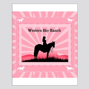 Pink Cowgirl Small Poster