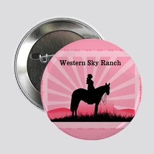 """Pink Cowgirl 2.25"""" Button"""