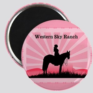 Pink Cowgirl Magnet