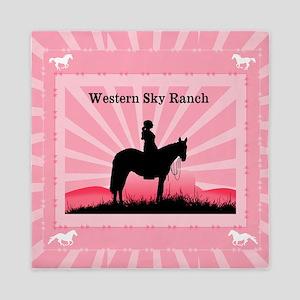 Pink Cowgirl Queen Duvet