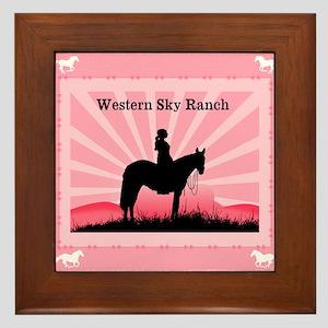 Pink Cowgirl Framed Tile