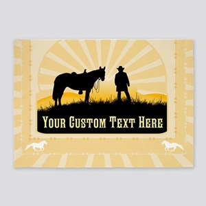Add Text Cowboy 5'x7'Area Rug