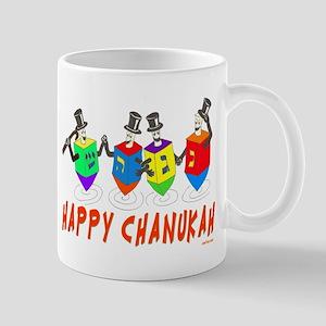 Happy Hanukkah Dancing Dreidels Mug