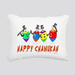Happy Hanukkah Dancing D Rectangular Canvas Pillow