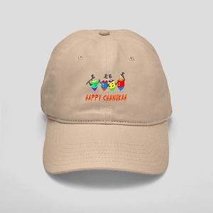 Happy Hanukkah Dancing Dreidels Cap