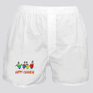 Happy Hanukkah Dancing Dreidels Boxer Shorts