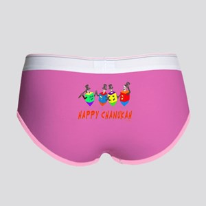 Happy Hanukkah Dancing Dreidels Women's Boy Brief