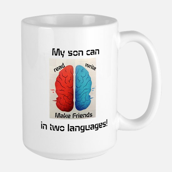 My son can...in two languages! Mugs