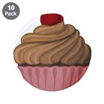 Sweet Pink and Brown Cupcake 3.5
