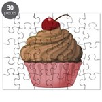 Sweet Pink and Brown Cupcake Puzzle