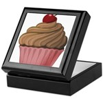 Sweet Pink and Brown Cupcake Keepsake Box