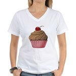 Sweet Pink and Brown Cupcake T-Shirt