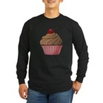 Sweet Pink and Brown Cupcake Long Sleeve T-Shirt