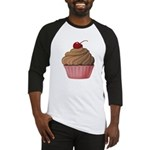 Sweet Pink and Brown Cupcake Baseball Jersey