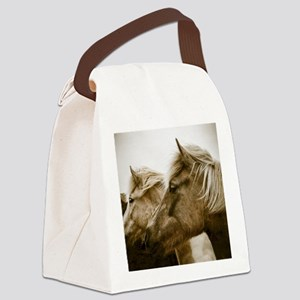 Icelandic Pony Duo Canvas Lunch Bag