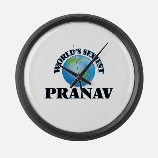 World's Sexiest Pranav Large Wall Clock