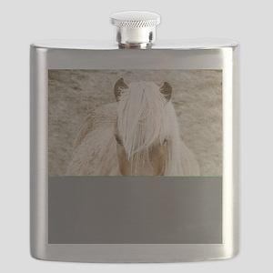 Windswept Blonde Pony Flask