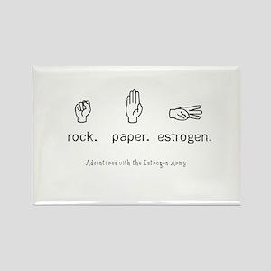 Rock. Paper. Estrogen. Magnets