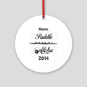 PaddleAloha-Kane (personalized) Ornament (Round)
