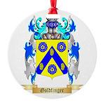 Goldfinger Round Ornament