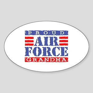 Proud Air Force Grandma Oval Sticker