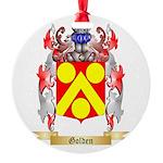 Golden Round Ornament