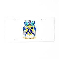 Gold Aluminum License Plate