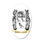 Goivannacci 20x12 Oval Wall Decal