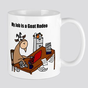 Funny Goat Rodeo Job Humor Mugs