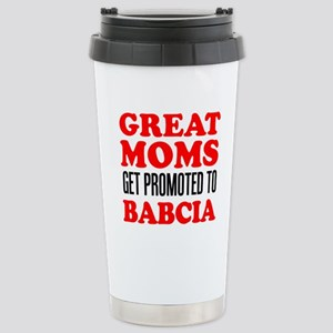 Promoted To Babci 16 oz Stainless Steel Travel Mug
