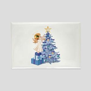 Christmas Tree Angel- Rectangle Magnet