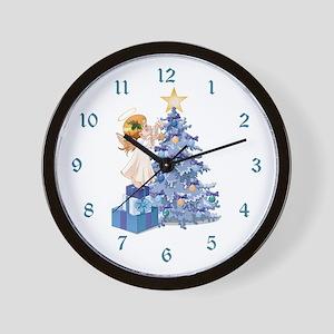Christmas Tree Angel- Wall Clock