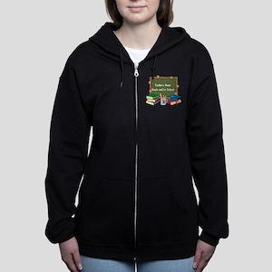 Custom Teacher Women's Zip Hoodie