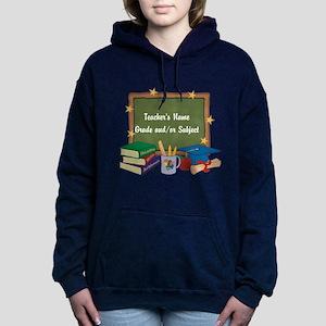 Custom Teacher Women's Hooded Sweatshirt