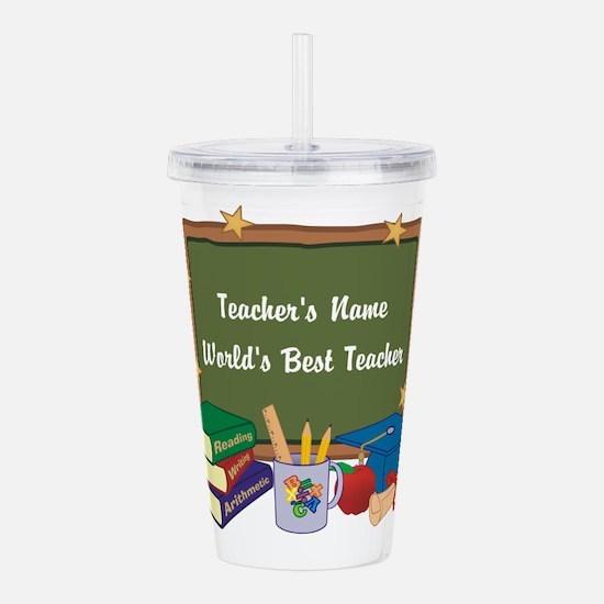Custom Teacher Acrylic Double-wall Tumbler
