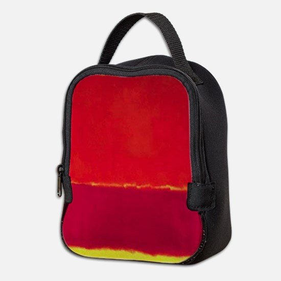 ROTHKO RED PINK YELLOW Neoprene Lunch Bag