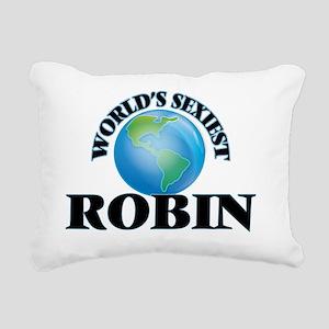 World's Sexiest Robin Rectangular Canvas Pillow