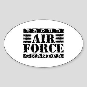 Proud Air Force Grandpa Oval Sticker