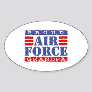 Proud Air Force Grandpa Oval Sticker
