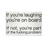 Laughing Or Part Of The Rectangle Magnet (10 pack)