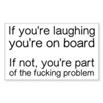 Laughing Or Part Of The Sticker (Rectangle 10 pk)