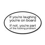 Laughing Or Part Of The Prob 35x21 Oval Wall Decal