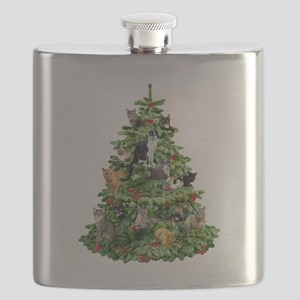 Cats in Tree Flask