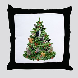 Cats in Tree Throw Pillow
