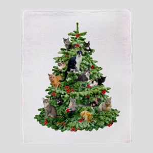 Cats in Tree Throw Blanket