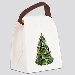 Cats in Tree Canvas Lunch Bag
