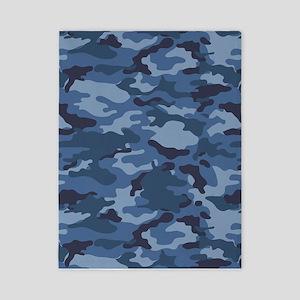 Blue Camo Pattern Twin Duvet