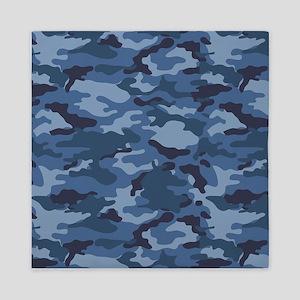 Blue Camo Pattern Queen Duvet