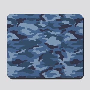 Blue Camo Pattern Mousepad